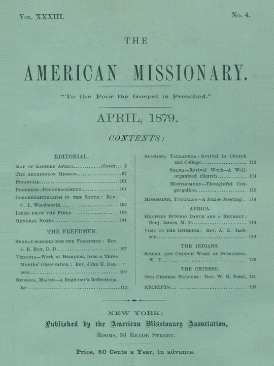 The American Missionary — Volume 33, No. 4, April 1879