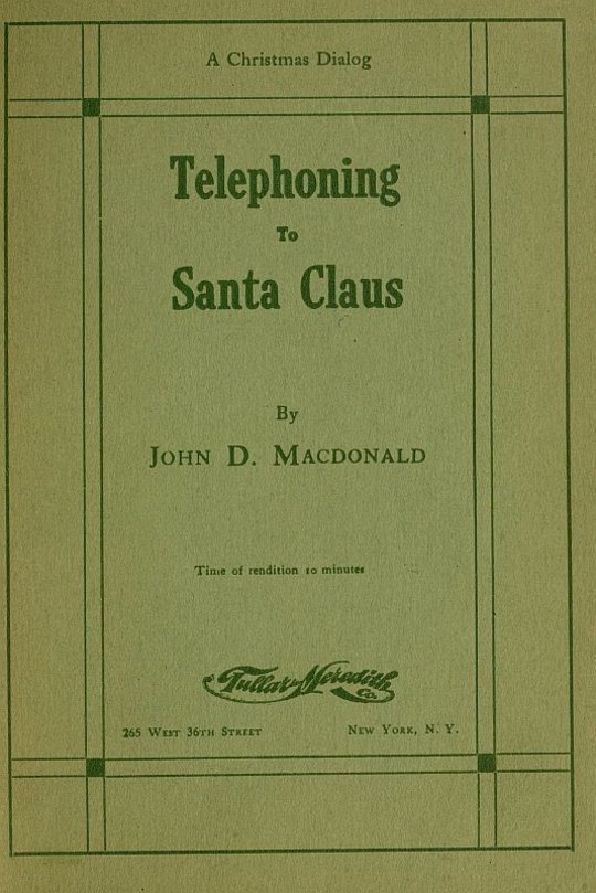 Telephoning to Santa Claus