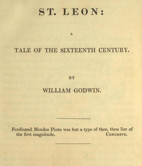 St. Leon A Tale of the Sixteenth Century
