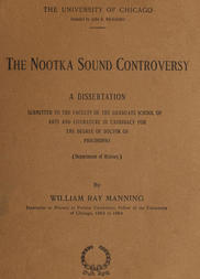 The Nootka Sound Controversy A dissertation