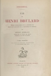 Vie de Henri Brulard, tome 1 (of 2)