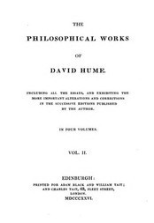 Philosophical Works, v. 2 (of 4) Including all the Essays, and Exhibiting the more Important Alterations and Corrections in the Successive Editions Published by the Author