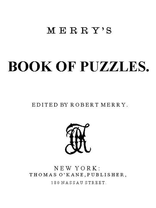Merry's Book of Puzzles