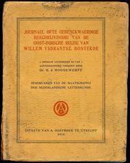 Journael ofte gedenckwaerdige beschrijvinghe van de OostIndische Reyse van Willem Ysbrantsz. Bontekoe