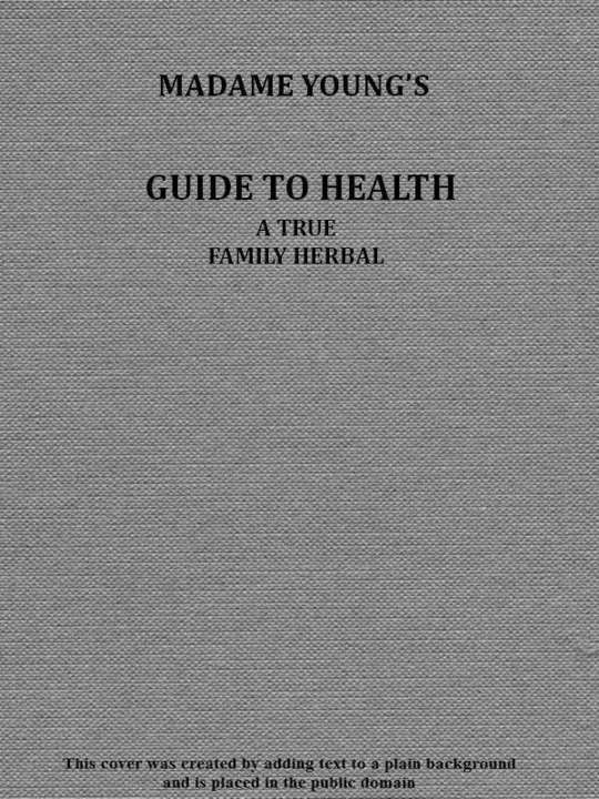 Madame Young's Guide to Health Her experience and practice for nearly forty years