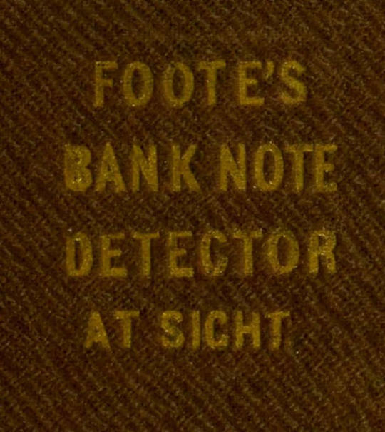 The Universal Counterfeit and Bank Note Detector at Sight