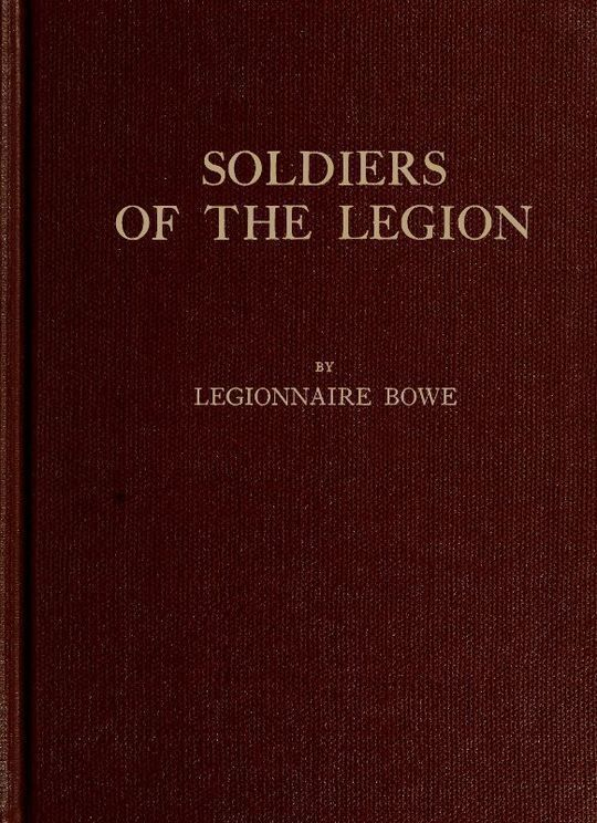 Soldiers of the Legion Trench-Etched