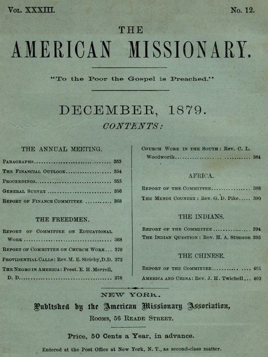 The American Missionary — Volume 33, No. 12, December 1879