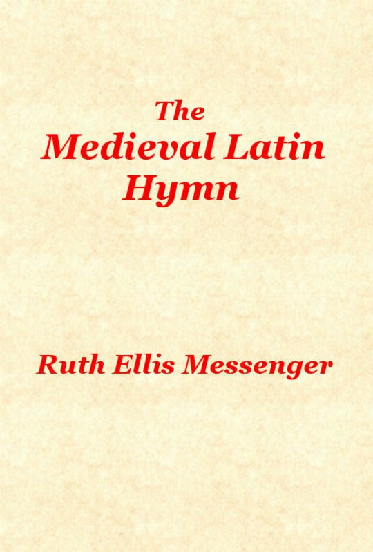 The Medieval Latin Hymn