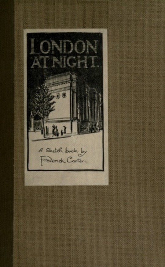 London at Night A sketch-book