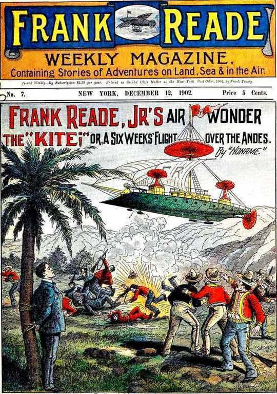 "Frank Reade Jr.'s Air Wonder, The ""Kite""; Or, A Six Weeks' Flight Over The Andes"