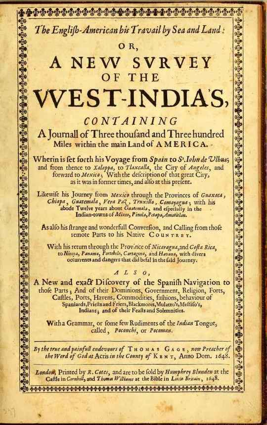 The English-American his Travail by Sea and Land: or, A New Survey of the West-India's