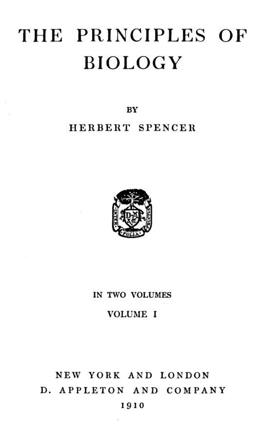 The Principles of Biology, Volume 1 (of 2)