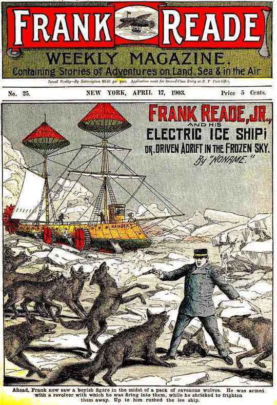 Frank Reade, Jr., and His Electric Ice Ship or, Driven Adrift in the Frozen Sky.