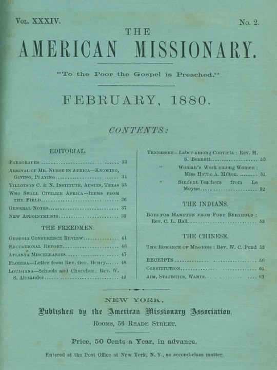 The American Missionary — Volume 34, No. 2, February, 1880