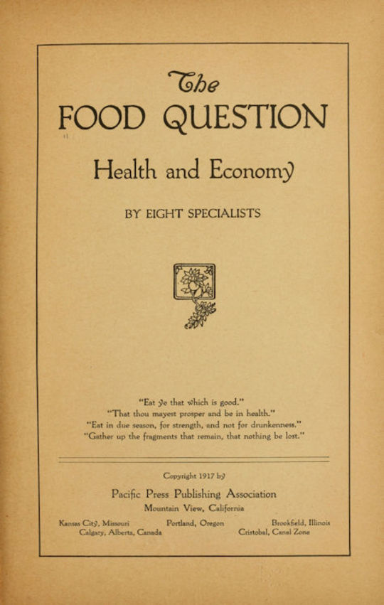 The Food Question Health and Economy