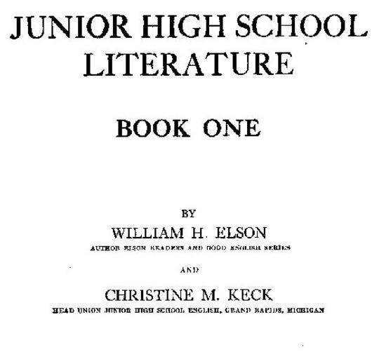 Junior High School Literature, Book 1