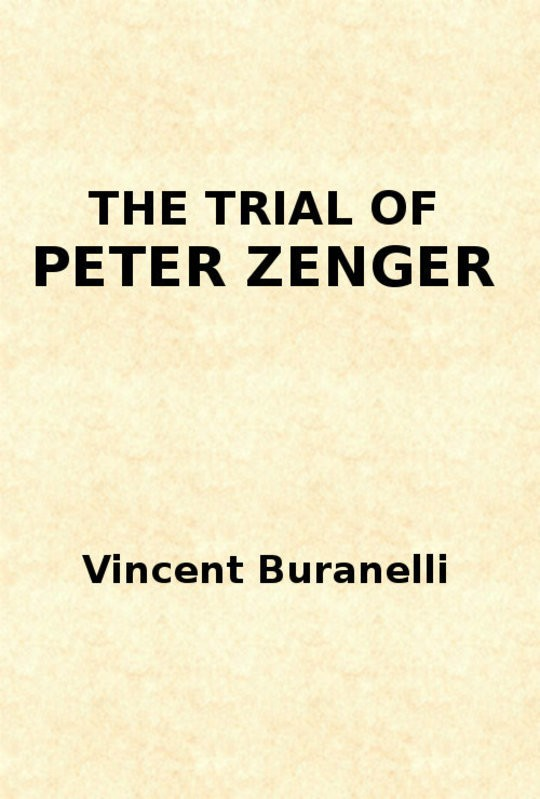The Trial of Peter Zenger