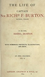 The Life of Captain Sir Richard F. Burton, volume 2 (of 2) By his Wife Isabel Burton