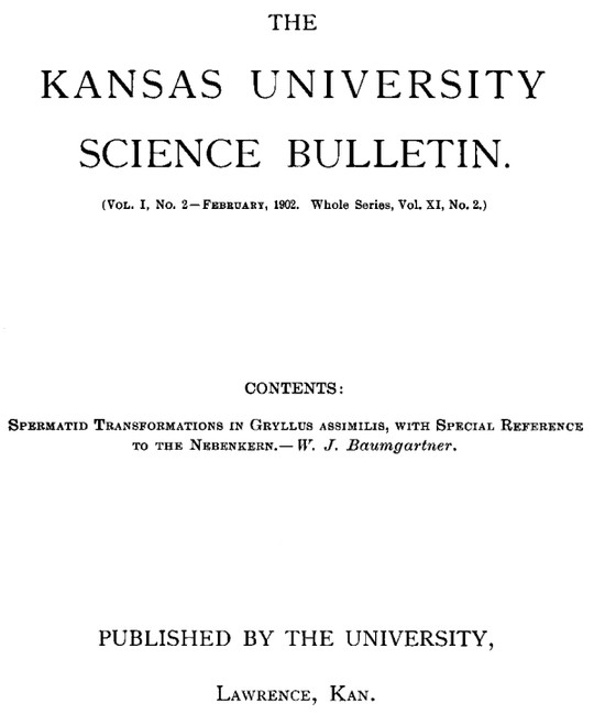 The Kansas University Science Bulletin, Vol. I, No. 2, February, 1902