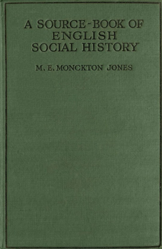 A Source-Book of English Social History