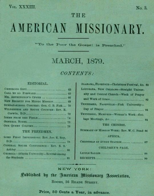The American Missionary — Vol. 33, No. 3, March, 1879