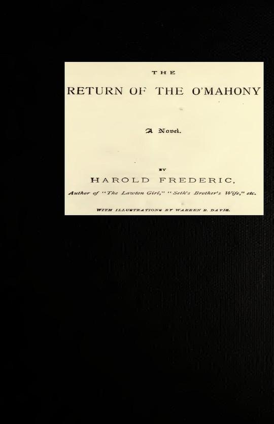 The Return of The O'Mahony A Novel