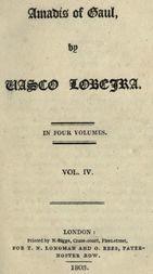 Amadís of Gaul, (Vol. IV. of IV)