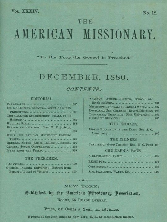 The American Missionary, Volume 34, No. 12, December 1880