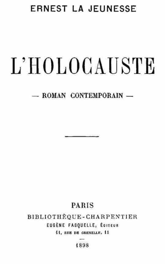 L'Holocauste Roman Contemporain