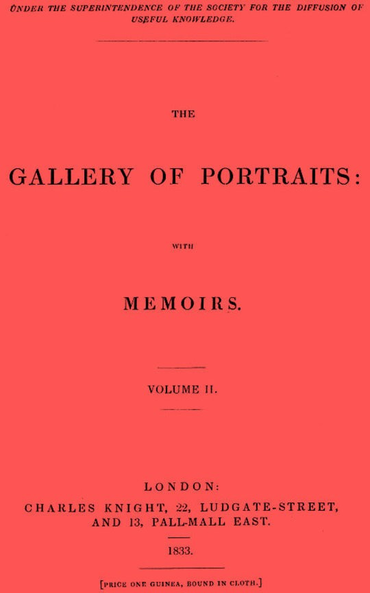 The Gallery of Portraits, with Memoirs. Vol 2 (of 7)