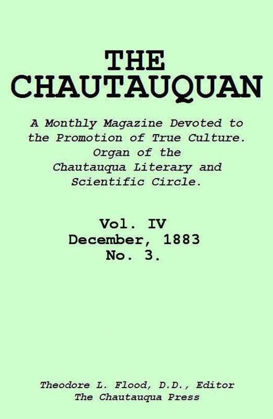 The Chautauquan, Vol. 04, December 1883