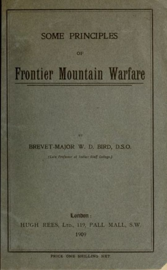 Some Principles of Frontier Mountain Warfare