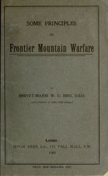 Some Principles of Frontier Mountain Warfare