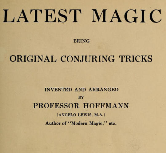 Latest Magic Being original conjuring tricks