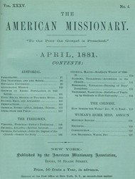The American Missionary — Volume 35, No. 4, April, 1881