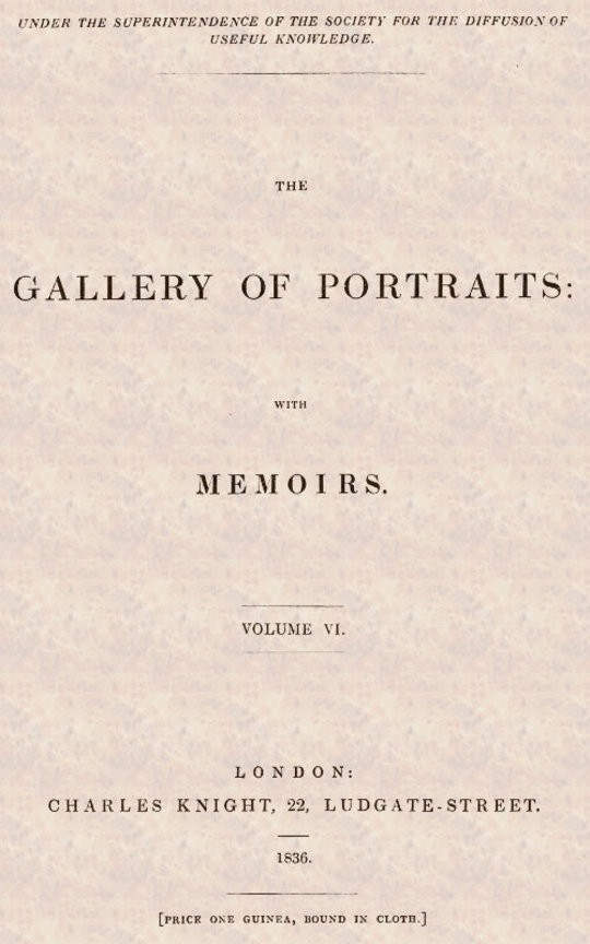 The Gallery of Portraits: with Memoirs. Vol 6 (of 7)