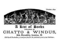 A list of books published by Chatto and Windus, October 1892