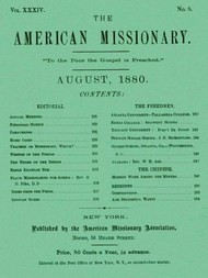 The American Missionary — Volume 34, No. 8, August, 1880