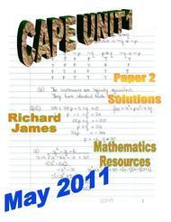 CAPE 1 Mathematics  May 2011: Paper 2 Solutions