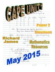 CAPE 1  Mathematics May 2015: Paper 2 Solutions