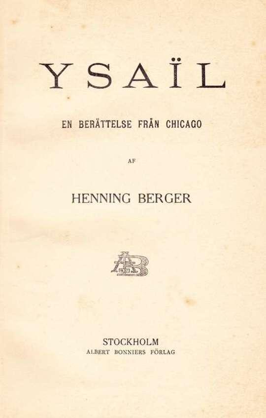 Ysaïl En berättelse från Chicago