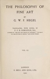 The Philosophy of Fine Art, volume 3 (of 4) Hegel's Aesthetik
