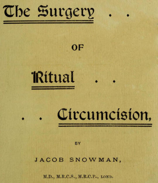 The Surgery of Ritual Circumcision