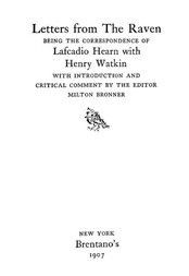 Letters from The Raven Correspondence of L. Hearn with Henry Watkin