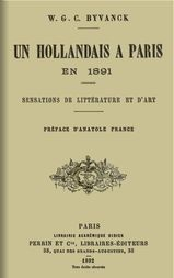 Un hollandais à Paris en 1891 Sensations de littérature et d'art