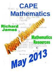 CXC CAPE Past Paper 2 Solutions May 2013