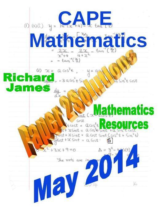 CXC CAPE  Paper 2 Solutions  May 2014