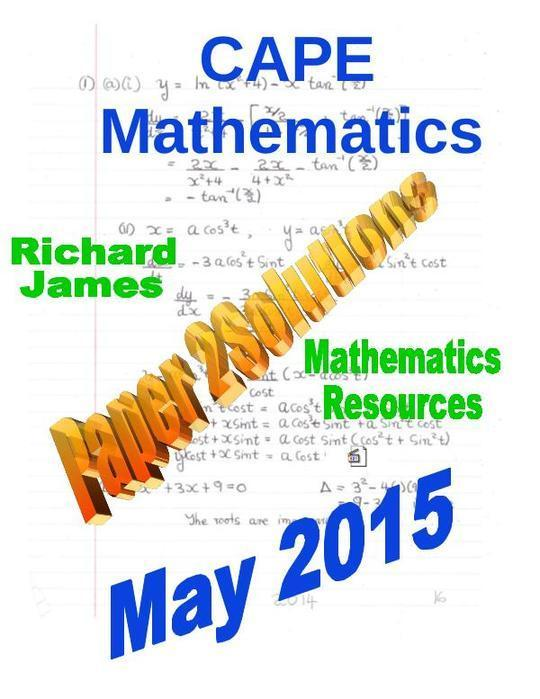 CXC CAPE Paper 2 Past Paper Solutions May 2015