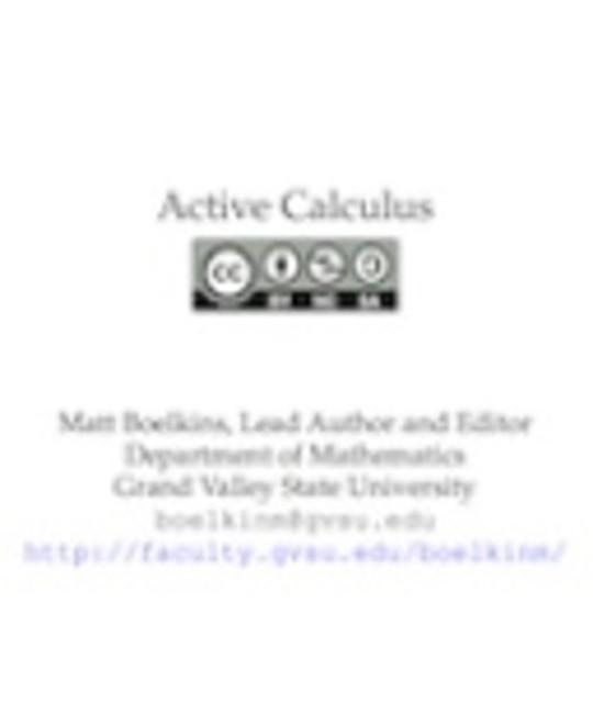 Active Calculus